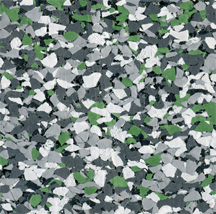 609:Charcoal and light grey with green fleck